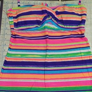 CANDIES JUNIORS SIZE MEDIUM STRIPED TANKINI TOP